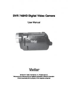 DVR 740HD Digital Video Camera - Vivitar