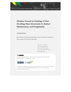 Dwelling - Journal of French and Francophone Philosophy - University ...