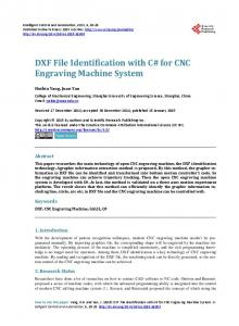 DXF File Identification with C# for CNC Engraving Machine System