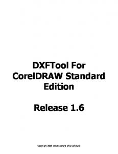 DXFTool For CorelDRAW Standard Edition Release 1.6