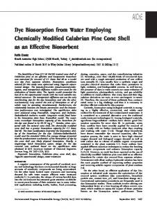 Dye Biosorption from Water Employing ... - Wiley Online Library