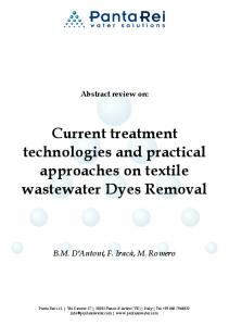 Dyes Removal 1 - Panta Rei Water Solutions