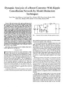 Dynamic Analysis of a Boost Converter With Ripple Cancellation ...