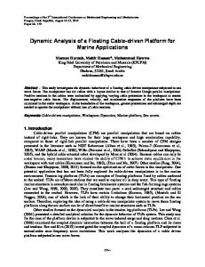 Dynamic Analysis of a Floating Cable-driven Platform for Marine ...