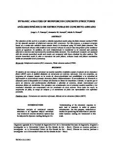 dynamic analysis of reinforced concrete structures ...