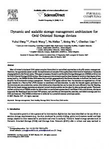 Dynamic and scalable storage management ... - Semantic Scholar