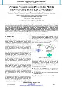 Dynamic Authentication Protocol for Mobile Networks Using Public ...