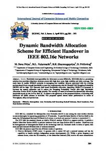 Dynamic Bandwidth Allocation Scheme for Efficient Handover in IEEE ...