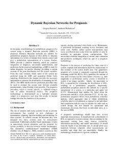 Dynamic Bayesian Networks for Prognosis