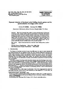 Dynamic behavior of fractional order Duffing chaotic system and its ...