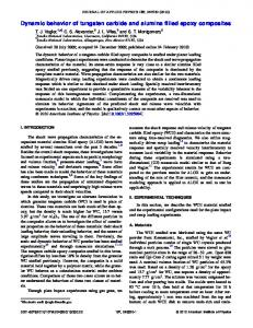 Dynamic behavior of tungsten carbide and alumina ... - AIP Publishing