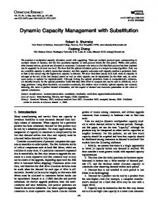 Dynamic Capacity Management with Substitution - Olin Business School