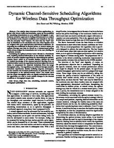 Dynamic channel-sensitive scheduling algorithms for wireless ... - ECT