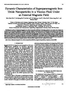 Dynamic Characteristics of Superparamagnetic Iron Oxide ...