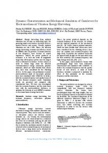 Dynamic Characterization and Mechanical Simulation of ... - Comsol
