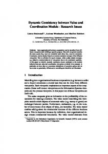 Dynamic Consistency between Value and Coordination Models ...