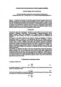 Dynamic control and annulment of electromagnetic ... - CiteSeerX