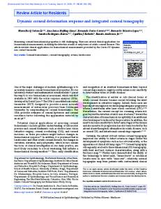 Dynamic corneal deformation response and