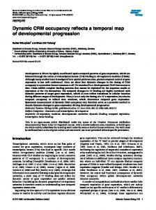 Dynamic CRM occupancy reflects a temporal map