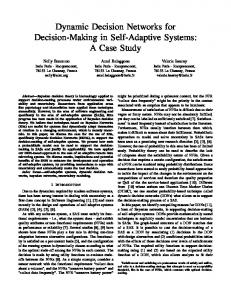 Dynamic Decision Networks for Decision-Making in Self ... - CiteSeerX