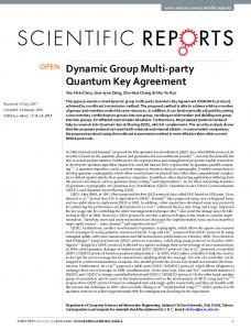 Dynamic Group Multi-party Quantum Key Agreement