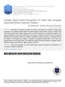 Dynamic Hand Gesture Recognition of Arabic Sign Language using ...