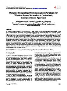 Dynamic Hierarchical Communication Paradigm for Wireless Sensor ...