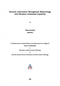 Dynamic Information Management Methodology with Situation ...