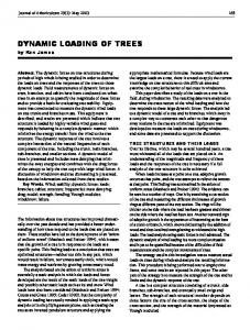 dynamic loading of trees - Arboriculture & Urban Forestry