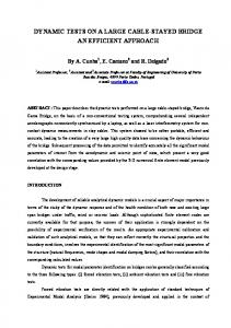 dynamic measurements on stay-cables of cable stayed bridges using ...