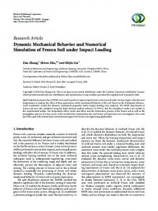 Dynamic Mechanical Behavior and Numerical Simulation of Frozen ...