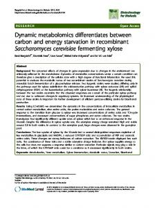 Dynamic metabolomics differentiates between carbon ... - BioMedSearch