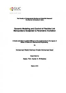Dynamic Modeling and Control of Flexible-Link