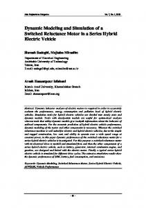 Dynamic Modeling and Simulation of a Switched Reluctance Motor in ...