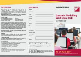 Dynamic Modelling Workshop (DSL)