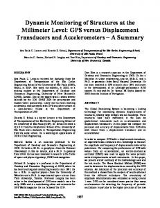 Dynamic Monitoring of Structures at the Millimeter Level: GPS ... - UNB