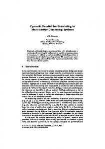 Dynamic Parallel Job Scheduling in Multi-cluster Computing Systems