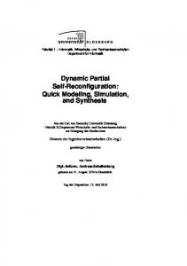 Dynamic Partial Self-Reconfiguration - oops/ - Oldenburger Online ...
