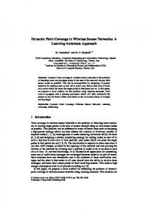 Dynamic Point Coverage in Wireless Sensor Networks: A ... - CiteSeerX