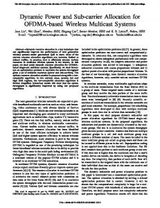 Dynamic Power and Sub-Carrier Allocation for ... - Semantic Scholar