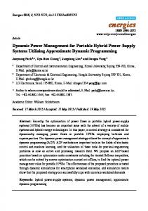 Dynamic Power Management for Portable Hybrid ... - Semantic Scholar