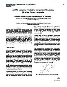 Dynamic Predictive Congestion Control in Wireless Sensor Networks