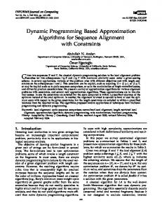 Dynamic Programming Based Approximation Algorithms for Sequence