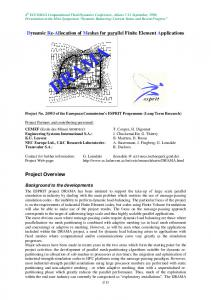 Dynamic Re-Allocation of Meshes for parallel Finite ...