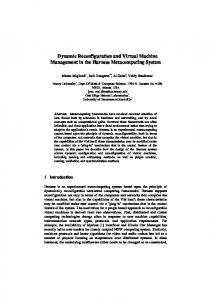 Dynamic Reconfiguration and Virtual Machine ... - Semantic Scholar