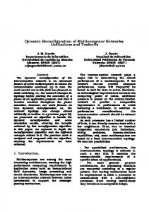 Dynamic Reconfiguration of Multicomputer Networks ... - CiteSeerX