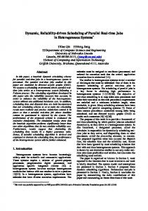 Dynamic, Reliability-driven Scheduling of Parallel Real ... - CiteSeerX