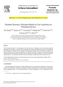 Dynamic Resource Allocation Based on User ...