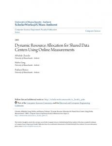 Dynamic Resource Allocation for Shared Data