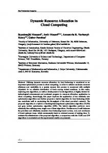Dynamic Resource Allocation in Cloud Computing